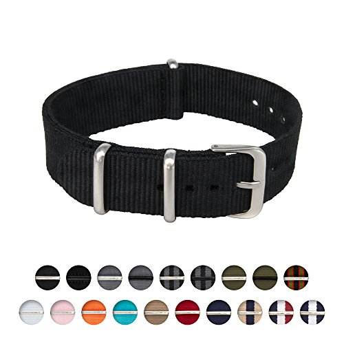 Archer-Watch-Straps-Nylon-NATO-Straps-Choice-of-Color-and-Size-18mm-20mm-22mm-24mm