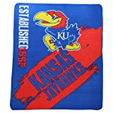 "NCAA Collegiate School Logo Fleece Blanket (Kansas Jayhawks, 50"" x 60"")"