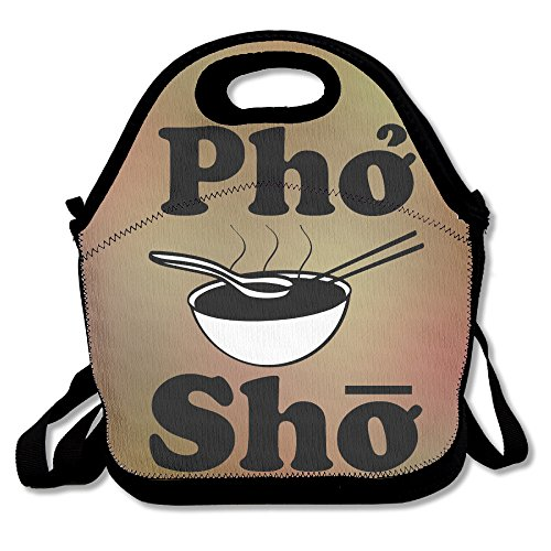 Hoeless Pho Sho Soup Insulated Lunch Bag With Zipper,Carry Handle And Shoulder Strap For Adults Or Kids - Kids Redondo Fit Beach