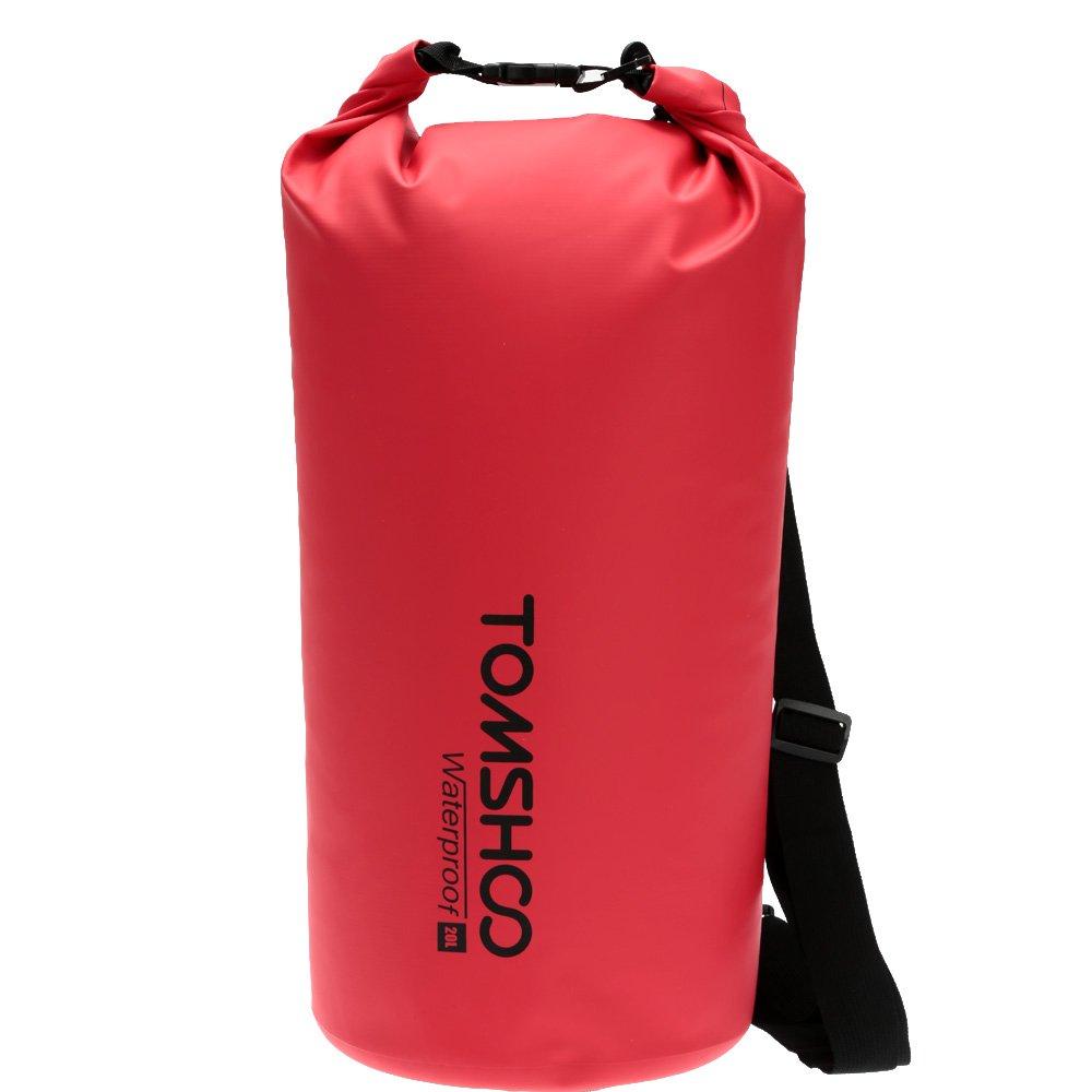 TOMSHOO 10L//20L Bolso seco Impermeable Roll Top Dry Sack Gear Bolsa de Almacenamiento con Correas Ajustables para Kayak Rafting Boating Playa pirag/üismo Camping Snowboard