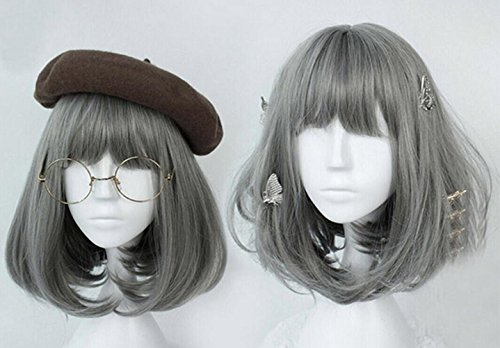 Japan-Harajuku-Sweet-Lolita-Grey-Wig-Christmas-Anime-Cosplay-Party-Costume-Super-Natural-Club-Full-Wigs-Daily-Hair-with-Wig-Cap