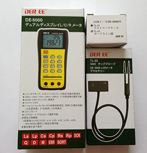 DER Ee De-5000 High Accuracy Handheld LCR Meter with Tl-21 Tl-22
