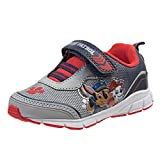 Josmo Paw Patrol Boys' Lightweight Sneakers with Strap Closure, Grey/Red, Size 6 M US Toddler'