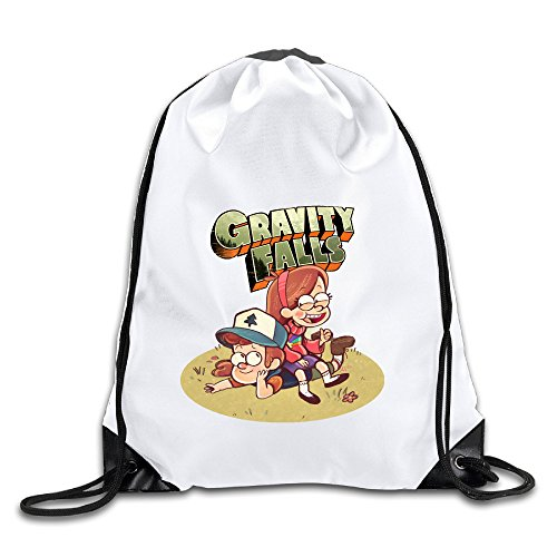 OOONG Fashion Men & Women Sackpack Gravity Falls Dipper's And Mabel's Backpack Sack Bag Drawstring Sling (Grease Female Characters)