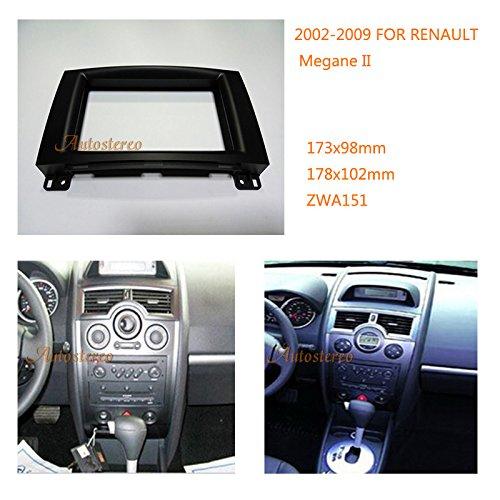 Autostereo Car Radio Fitting Kit installation fascia for RENAULT Megane II 2002-2009 Car Radio Stereo Facia Frame RENAULT Megane II radio fascia frame 2Din