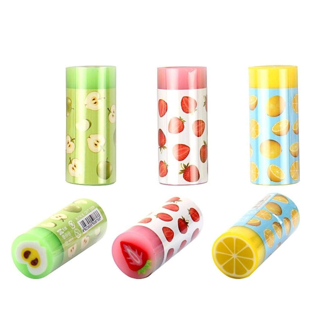 24 pcs/Lot Colorful fruit eraser for pencil erasing Novelty Lemon Apple Stationery Office supplies borracha escolar