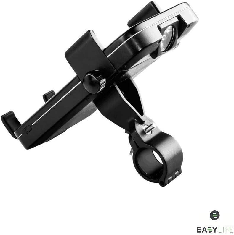 Moto Easy-Life Support de Telephone Batterie Externe 5000mAh Tandem Guidon Chargeur /à Induction et c/âble VTT Porte t/él/éphone Velo Power Bank 5000 mah v/élo Scooter Lampe pour Trottinette