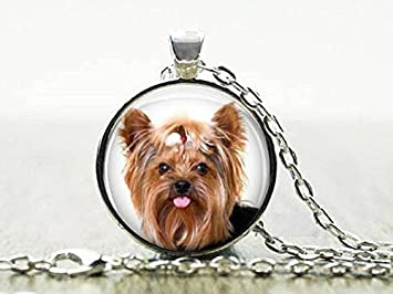 Amazon yorkie necklace 4 yorkie puppy with bow pendant yorkie necklace 4 yorkie puppy with bow pendant yorkie puppy keychain yorkshire aloadofball Image collections