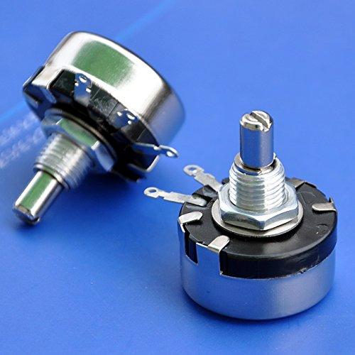 Electronics-Salon 2PCS 10K ohm 1 Watt Wirewound Potentiometer