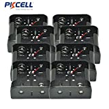 1.5V D Size Battery Holder Box Container Two Wires Black Plastic (8pc)