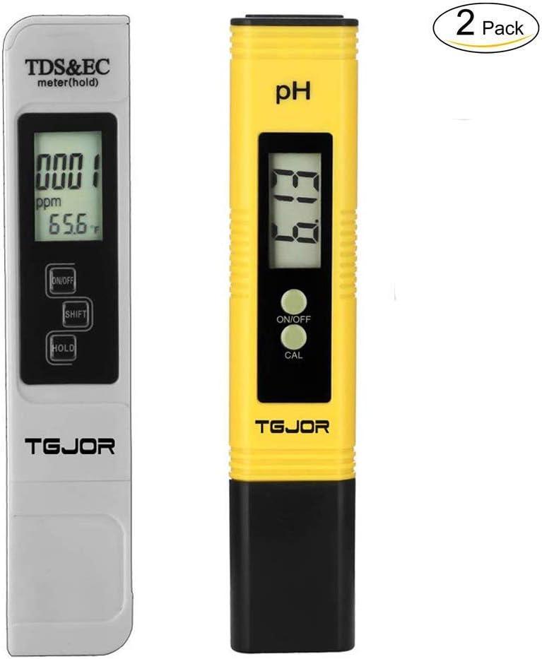 Medidor digital portátil de la calidad del agua 4 en 1: TDS, PH, EC y temperatura - autocalibración, compensación automática, retroiluminado