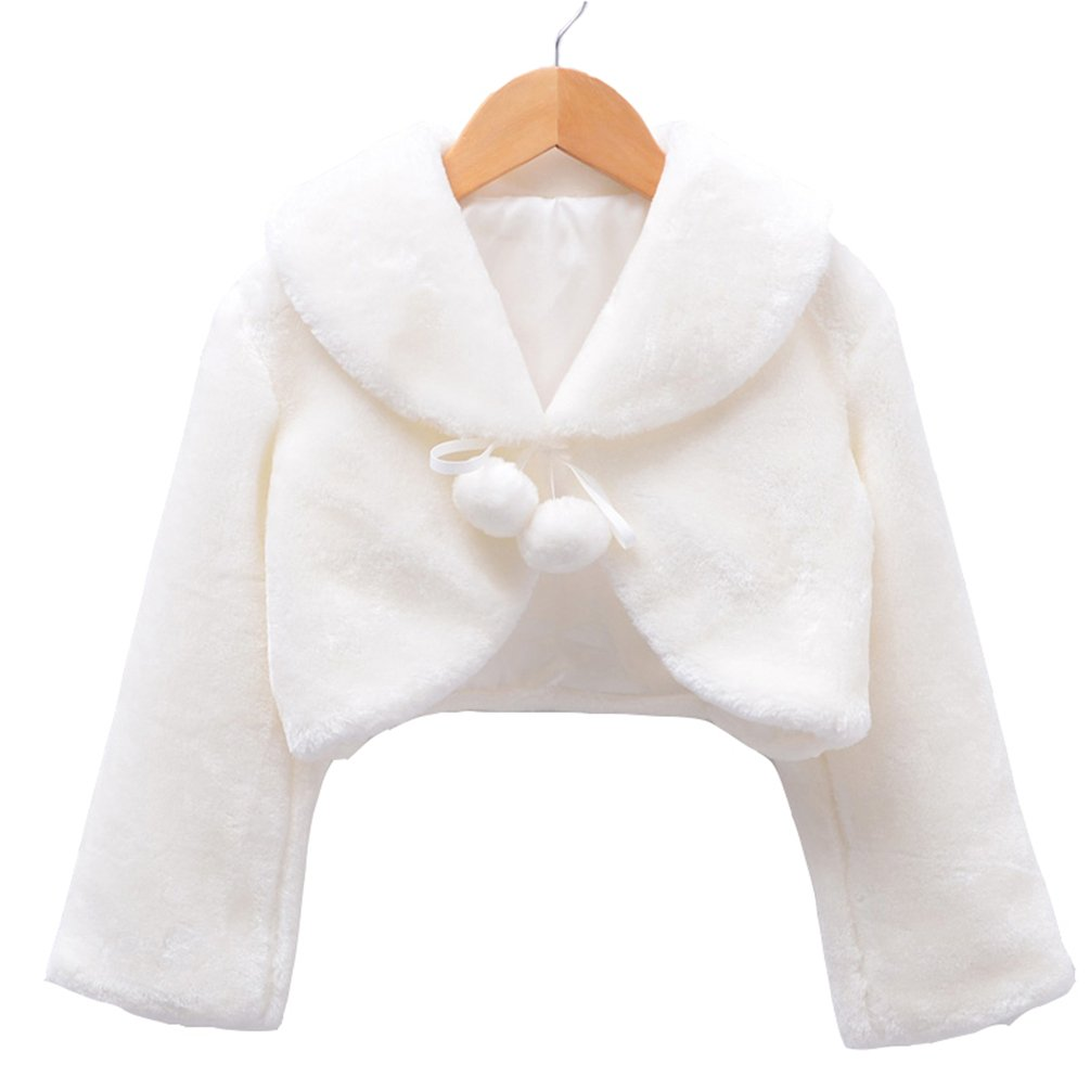 ModeC Girls Faux Fur Bolero Jacket Shrug Princess Cape MC167