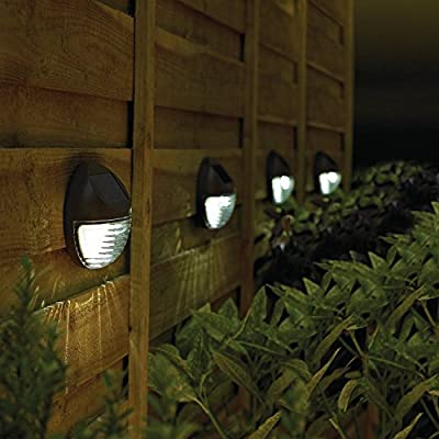 Waterproof Solar Step Deck Lights Brown- Kinna 4 Pieces Outdoor Wireless Solar Dock Pathway Road Marker Warm Light for Garden Path Stair Fence Driveway Road Lighting