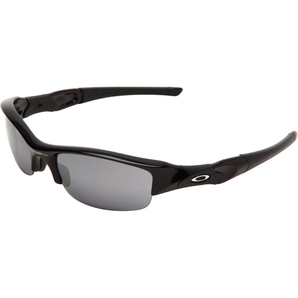 Oakley Men's Flak Jacket Iridium Sunglasses,Jet Black Frame/Black Lens,One Size