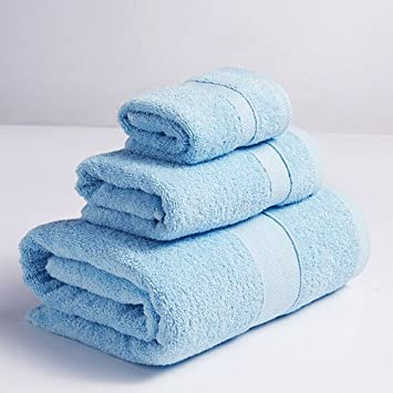 Mercely Premium Large Thicked Cotton Bath Sheets Toalla Absorbente Muy Suave Super Soft Facecloth 3 Piezas Toalla Set 1 Toalla de Baño, 1 Toalla de Mano y 1 ...