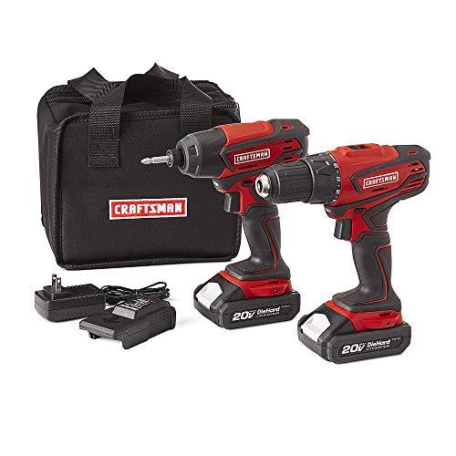 - Craftsman 20V MAX Cordless Drill and Impact Driver Combo Kit