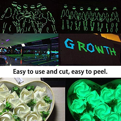 Cinta Adhesiva Luminosa Naranja Etiqueta Adhesiva de Seguridad Cinta Luminosa Pegatina autoadhesiva Fluorescente Decoraci/ón esc/énica Cinta Luminosa noctiluciente