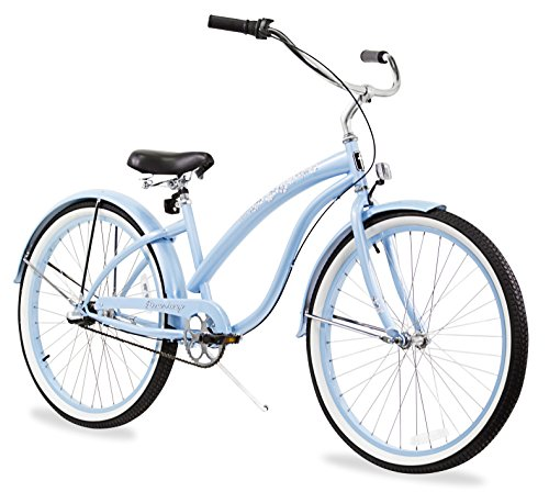 - Firmstrong Bella Classic 3-Speed Beach Cruiser Bicycle, 26-Inch, Baby Blue