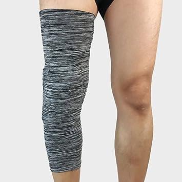 Un par de hombres Deportes Baloncesto voleibol cintas de seguridad Kneepad calcetines de compresión de la