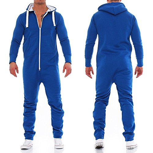 Lucky Joe's Herren Jumpsuit Jogger Jogging Anzug Trainingsanzug Overall Blau Gr. XL (NL3)