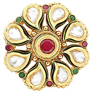 Arabella Luxuries Ladies Alloy Kumud Ring - Free Size