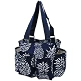 Southern Pineapple NGIL Small Zippered Caddy Organizer Tote Bag