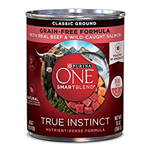 Purina ONE SmartBlend True Instinct Adult Canned Wet Dog Food 17