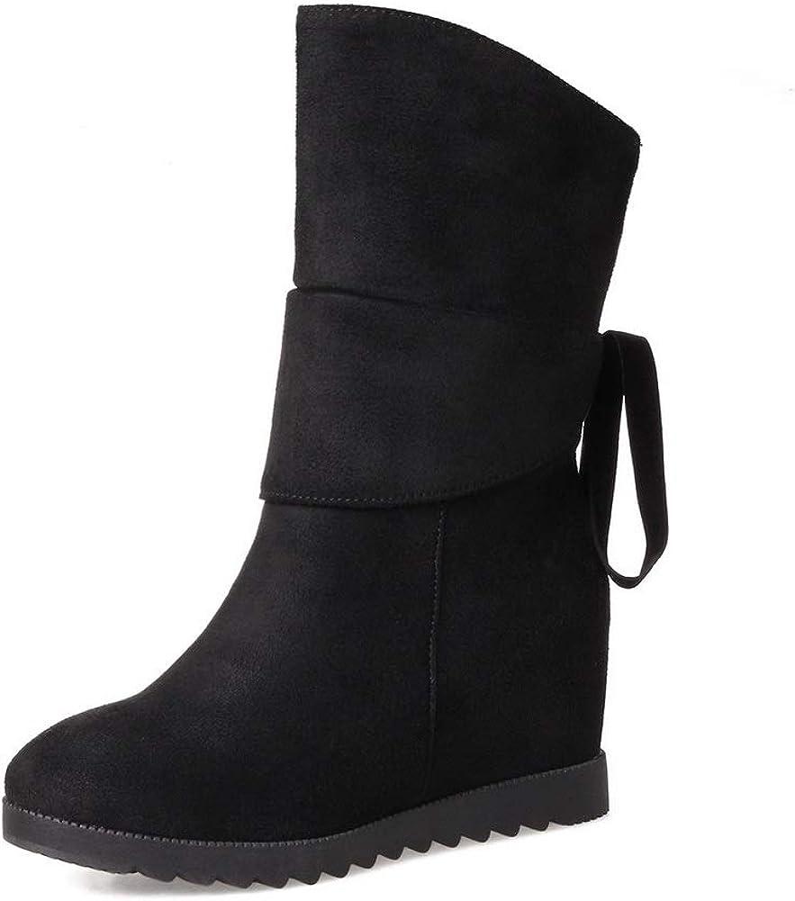 AdeeSu Womens Heighten Inside Bandage Imitated Suede Boots SXC03226