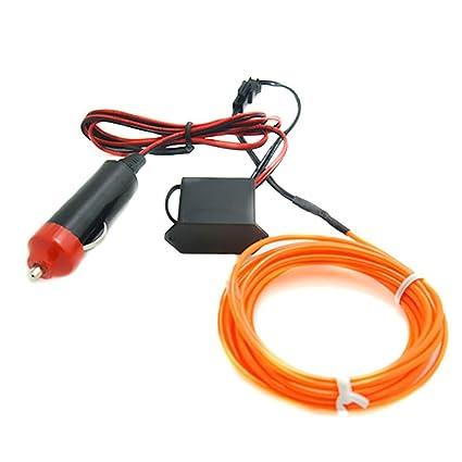 Amazon.com: 5M Neon LED Light Glow EL Wire String Strip Rope Tube + ...