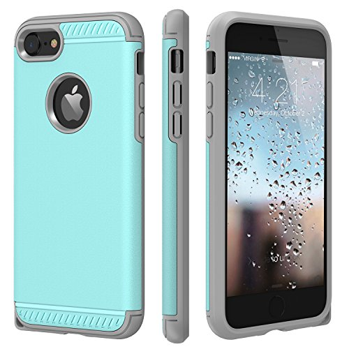 iPhone 7 Case,CHTech iPhone 8 Case Armor Shock Absorbing Dual Layer Case with Heavy Duty Drop Protection and Scratch Resistant Cover for Apple iPhone 7 / iPhone 8 [Mint]