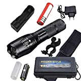 Hardent 9000 Lumens High Power 5 Mode XM-L T6 L2 LED Flashlight Zoomable Rechargeable Focus Torch by 118650 Or 3AAA Z92