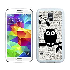 Cute Owl on Vintage Paper S5 Case Best New Samsung Galaxy S5 Case White Cover