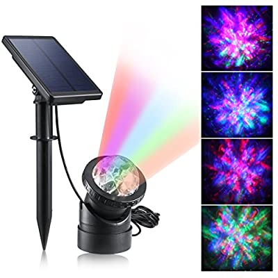 CREATIVE DESIGN Multicolored Solar Led Lights, Solar Powered USB Pond Light Fountain Lights, Waterproof Spotlight Wall Light for Swimming Pool Aquarium Fountain Garden
