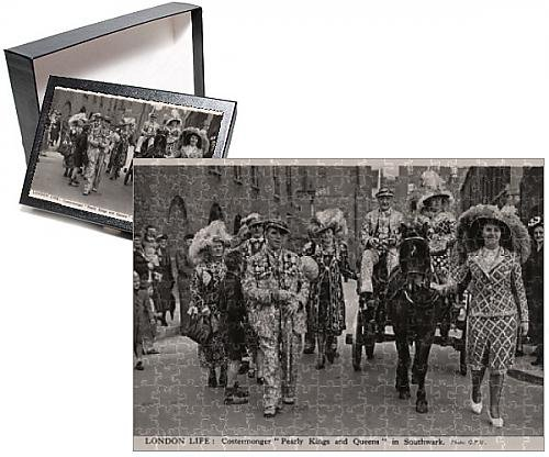 Pearly King Costume (Photo Jigsaw Puzzle of London Life Costermonger Pearly Kings and Queens, Southwark)
