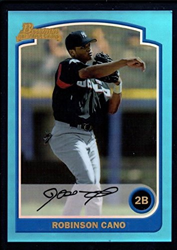 (ROBINSON CANO MINT 2003 BOWMAN CHROME ROOKIE BLUE REFRACTOR REPRINT RC )