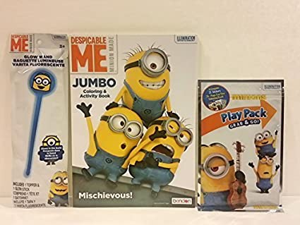 Minions Despicable ME Jumbo Coloring Activity Book Plus Play Pack Grab Go