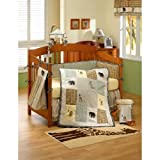 4 Piece Safari Crib Set