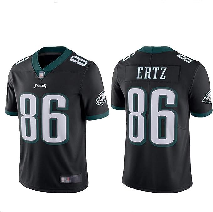 86 Ertz Eagles Camisa de Jersey de Rugby para Hombre, Camisetas de Entrenamiento Ropa Deportiva Malla de Secado rápido Sudadera de Fibra de poliéster de Manga Corta de Fitness (S-XXXL): Amazon.es:
