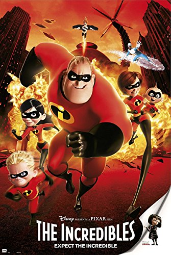 The Incredibles - Disney / Pixar Movie Poster / Print (Regular Style) (Size: 24