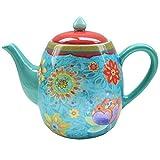 Certified International 22457 Tunisian Sunset Teapot, 40-Ounce, Multicolor