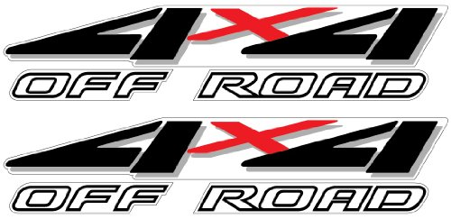 4x4 Decals - 1999 to 2001 Ford Style (Black)