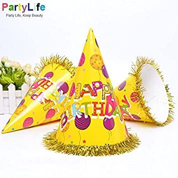 Generic Carton Party Favors Paper Cap Happy Birthday Caps For Adult And Child Decoration Event Amp Supplies Amazonin Home Kitchen