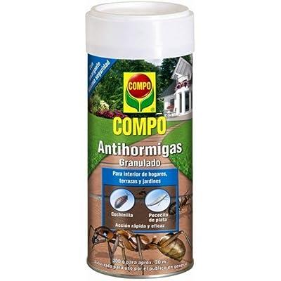 Compo Antihormigas, Formato granulado para espolvorear, de Uso Interior y Exterior, Efecto Duradero, 300 g
