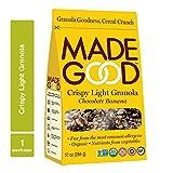 Cheap MadeGood Chocolate Banana Crispy Light Granola (10 oz. Package); Nut-Free, Gluten-Free, Allergy Friendly, USDA Certified Organic Ingredients, Vegan, Non-GMO; Perfect Nutritious, Convenient Breakfast