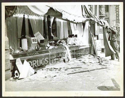 - Milk wagon crashes Huntington Av Drugstore Boston 1936