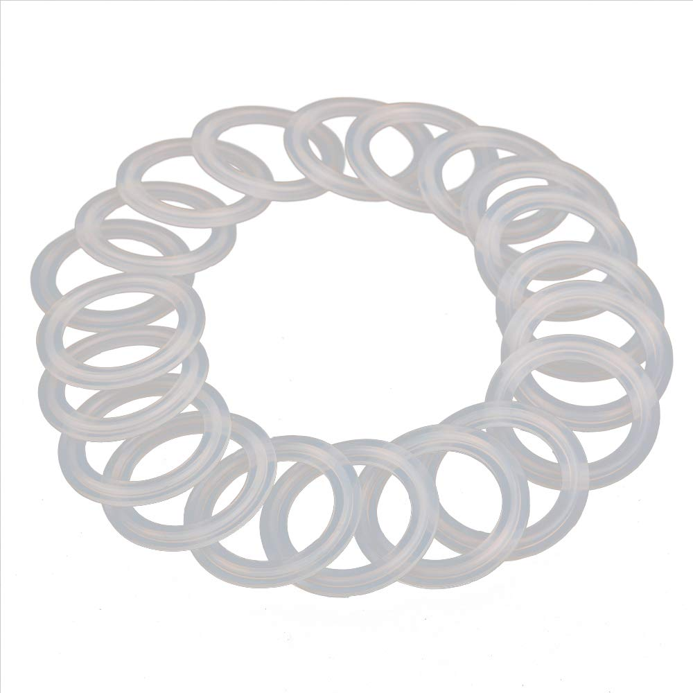 HODEE 20 PCS Sanitary triCLAMP Tri CLAMP Silicone Gasket 2'' (2 inch) ID:47.8mm, OD:64mm Dairy Brewing TRI Clover