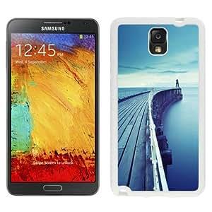 NEW Unique Custom Designed Samsung Galaxy Note 3 N900A N900V N900P N900T Phone Case With Wood Dock Bridge Lake_White Phone Case