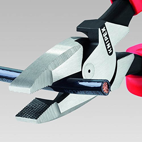 Knipex 09 12 240 SBA 9.5-Inch Ultra-High Leverage Lineman's Pliers with Fish Tape Puller and Crimper by KNIPEX Tools (Image #4)