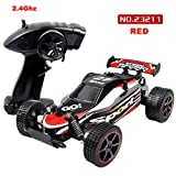 Gotd 1:20 2.4GHZ 15-25kmh Remote Control RC Racing Car Truck, Red