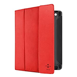 Belkin Storage Folio Case / Cover with Stand for the Apple iPad with Retina Display (4th Generation) & iPad 3 (Red) from Belkin
